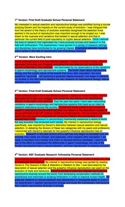 1st Paragraph evolution